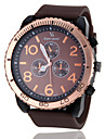 V6 Мужской Армейские часы Линейка Кварцевый Японский кварц Pезина Группа Черный Коричневый