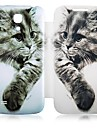 Cat Pattern Leather Full Body Case for Samsung Galaxy S4 Mini I9190