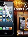 защитная HD передняя панель + крышка протектор экрана для iPhone 5/5s