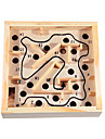 Maze Wooden Labyrinth Toys Fun Wood Classic Pieces Children\'s Gift