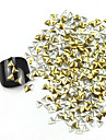 300PCS 3D Golden Triangle Liga Nail Art de Ouro e Prata Decoracao