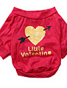 Dog Shirt / T-Shirt Dog Clothes Breathable Heart Rose Costume For Pets