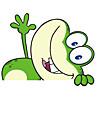 Лягте шаблона Frog Декоративные автомобиля стикер