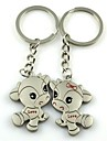 (2 PC) Beautiful Fashion Dallas High-Grade Stainless Steel Couple Keychain