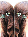 Shixin® Classic Three Leaves Alloy Hairpin(Blue,Golden)(1 Pc)