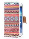 Ацтек Племенной Стиль кожаный чехол с карт памяти и ПОВ по Samsung Galaxy S4 Мини i9190