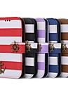 Caso Wallet pirata Duplo cores do arco-íris para Samsung S3 I9300