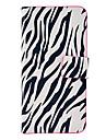 Zebra-Stripe Pattern Full Body Leather Tpu Case for iPhone 5C