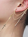 Vintage Cross Shape Alloy Drop Earring(1 Pc)