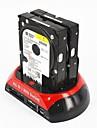"""더블 독 2.5 """"3.5""""SATA IDE 하드 디스크 OTG의 USB eSATA 하드 드라이브 도킹"""