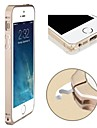 Slim Thin Metal Aluminum Bumper Frame Case with  Hippocampal Buckle for iPhone 5/5S(Assorted Colors)