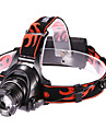 LETO N8 Adjustable Focus3-Mode 1xCree XM-L T6 Waterproof Headlamps(2x18650,2000LM,Black)
