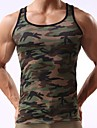 Canotte Per uomo Sport Attivo Con stampe, Camouflage / Senza maniche / Taglia piccola