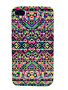 Colorized Mixed Geometry Hard Cover Case for iPhone 4/4S
