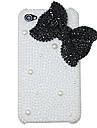 Bowknot Мода Перл Diamond жесткий чехол для iphone 4/4S