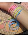 Bracelet Bracelets Rigides Silicone Autres Original Mode Soiree Quotidien Decontracte Sports Bijoux CadeauVert clair Blanc Jaune Rouge