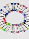 30Pcs Tongue Nipple Rings Ball Piercing Barbell Body Jewelry
