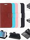 сплошной цвет чехол с подставкой для Samsung Galaxy s4 мини i9190 (разные цвета)