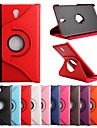 Pour Samsung Galaxy Coque Avec Support Clapet Rotation 360° Coque Coque Integrale Coque Couleur Pleine Cuir PU pour Samsung Tab S 8.4