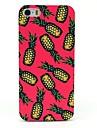 rosa caso duro fundo abacaxi padrão para iphone 4 / 4s