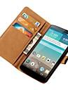 스탠드와 카드 슬롯과 LG의 옵티머스 G3의 D850의 d855에 대한 PU 가죽 지갑 케이스