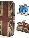 용 삼성 갤럭시 케이스 지갑 / 카드 홀더 / 스탠드 / 플립 / 패턴 케이스 풀 바디 케이스 국기 인조 가죽 Samsung S3
