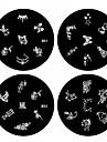 1pcs nail art estampage estampille l\'image plaque de modele serie n ° 1 b-4 (modele assortis)