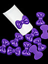 10PCS Bowknot Shaped Candy Color Resin Nail Art Decorations(Assorted Colors)