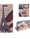 The Eiffel Tower Design Postcard Mode PU Full Body Case with Card Slot for HTC Desire 310