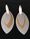 Fashion Stainless Steel Leaf Shape Drop Earrings(1 Pair)