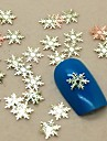 200pcs forma floco de neve da fatia do metal decoracao de unhas decoracao