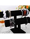 clássico bonito pulseira coreano suporte de madeira preta jóias flanela monitores (1 pc)