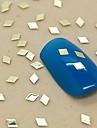 200PCS Soild Diamond Shape Golden Metal Slice Nail Art Decoration