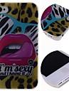 мультфильм леопарда красные губы шаблон жесткий футляр для iPhone 4 / 4s