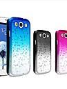 dégradé de couleur des gouttes d'eau étui rigide transparent pour Samsung Galaxy S3 i9300 (couleurs assorties)