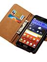 étui en cuir véritable pour samsung galaxy note n7000 i9220 style de portefeuille