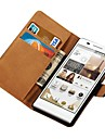 Stand Design Genuine Leather Case for Huawei Ascend P6 Wallet Style