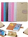 Glitter Powder Style PU Leather Full Body Case with Stand and Card Slot for iPhone 6 (Assorted Color)