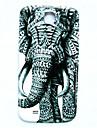 삼성 갤럭시 S4 i9500에 대한 동물 코끼리 패턴 얇은 하드 케이스 커버