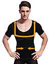 летние мужчины похудения тело формирователь с коротким рукавом контроль рубашка животик белье бюст фирма живот черные ny103