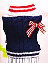 Dog Sweater Dog Clothes Casual/Daily Fashion Color Block Red Blue Costume For Pets