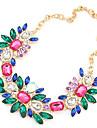 style européen collier déclaration de fleurs