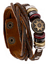 Fashion  20cm Men's Brown Leather Leather Bracelet(1 Pc) Jewelry Christmas Gifts
