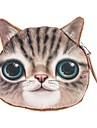bonito cara do gato bolsa carteira mini-moeda bolsa bolso bolsa saco do dinheiro zip maquiagem