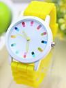 женская смешно масштаб капсула конфеты желе группа кварца наручные часы (разных цветов)