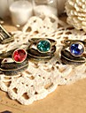 European Style Retro Gem Personality Leaves Ring