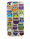 Various Owls Pattern TPU Material Soft Back Cover Case for iPhone 5/5S