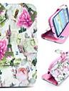 цветы и Эйфелева башня магнитного складной фолиант стоять кросс случай шаблон кожаный для Samsung Galaxy S3 i9300