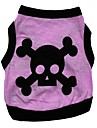 Cat Dog Shirt / T-Shirt Dog Clothes Heart Skull Purple Cotton Costume For Pets