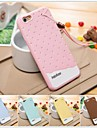 3d colorido suave de chocolate silicone caso sorvete para iPhone 6 Plus (cores sortidas)